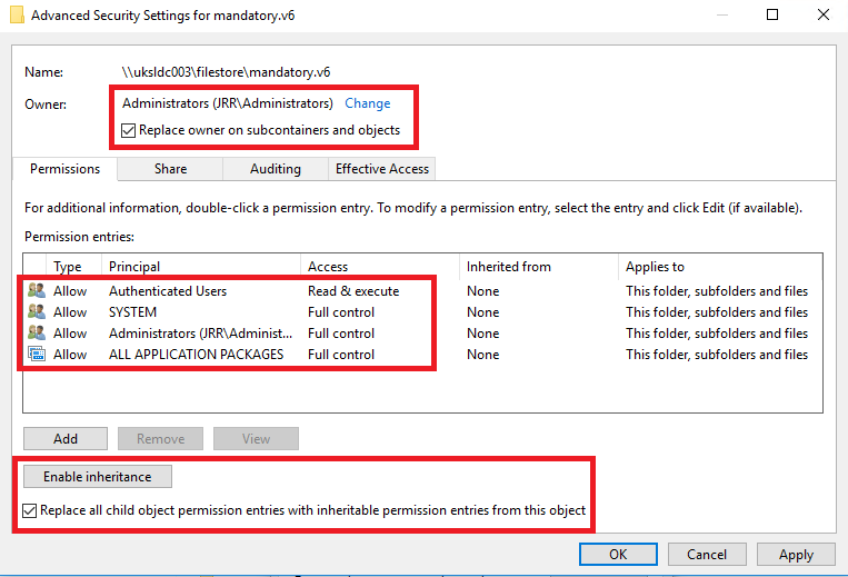 Creating a mandatory profile on Windows 10 1803 – JAMES
