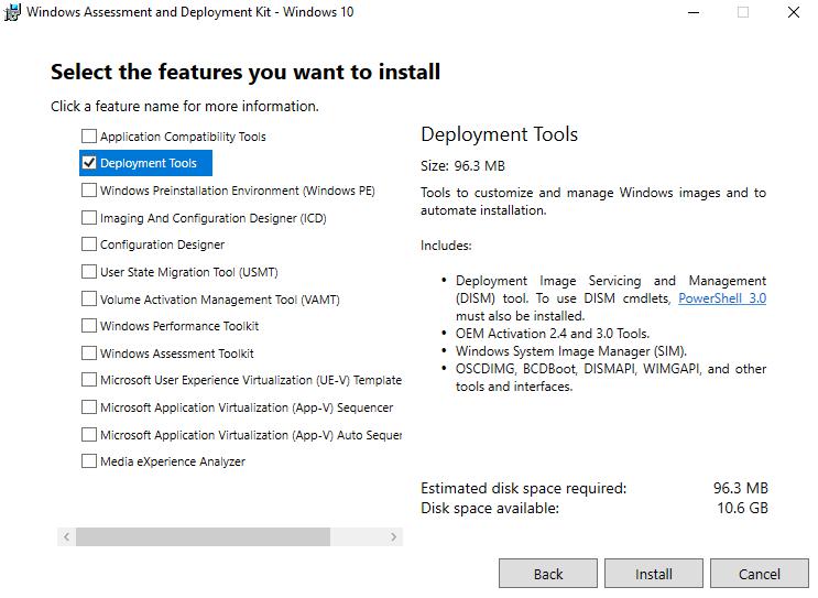 Creating a custom default profile on Windows 10 1803 – JAMES