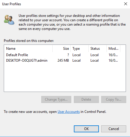 Creating a mandatory profile on Windows 10 1803 – JAMES